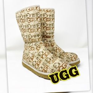 Vintage UGG Boots Monogram Rare Special Edition